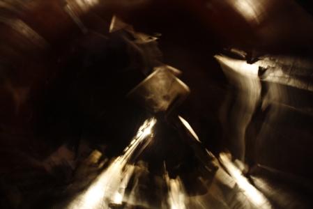 Exposição longa e rotação da câmera em estágios (foto: Felipe Obrer)